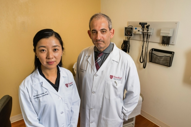 Dermatologist Bernice Wong, left, with physician Jason Gotlib. / Edward Caldwell photography