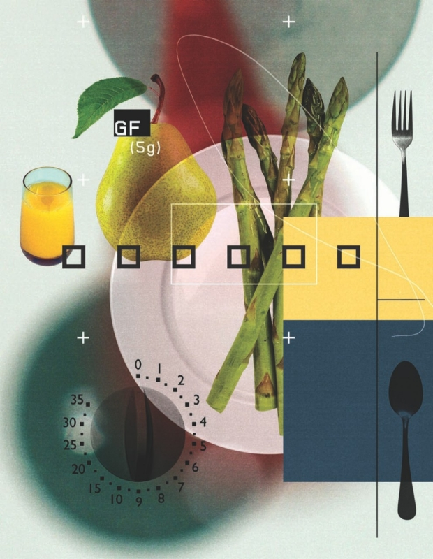Hospital food illustration by Stuart Bradford