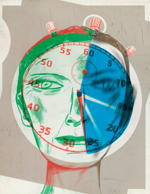Stroke clock illustration by Jeffrey Decoster