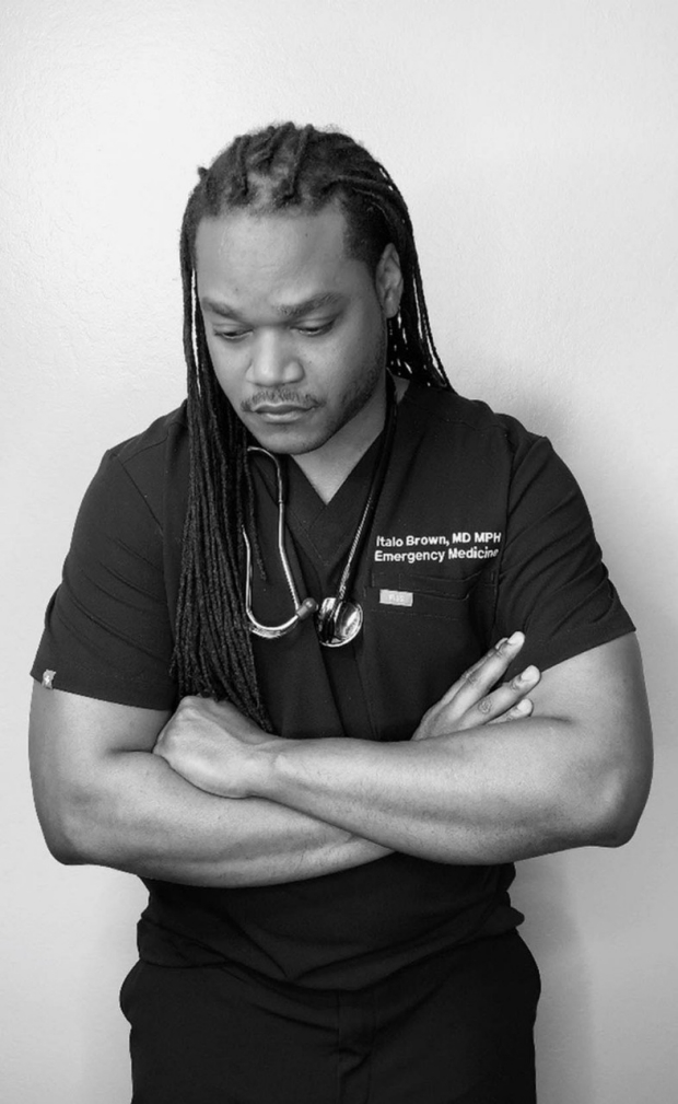 Stanford emergency physician Italo Brown photo by Italo Brown