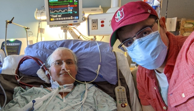 Stanford transplant patient John, with his son, Patrick. Photo courtesy of the family.