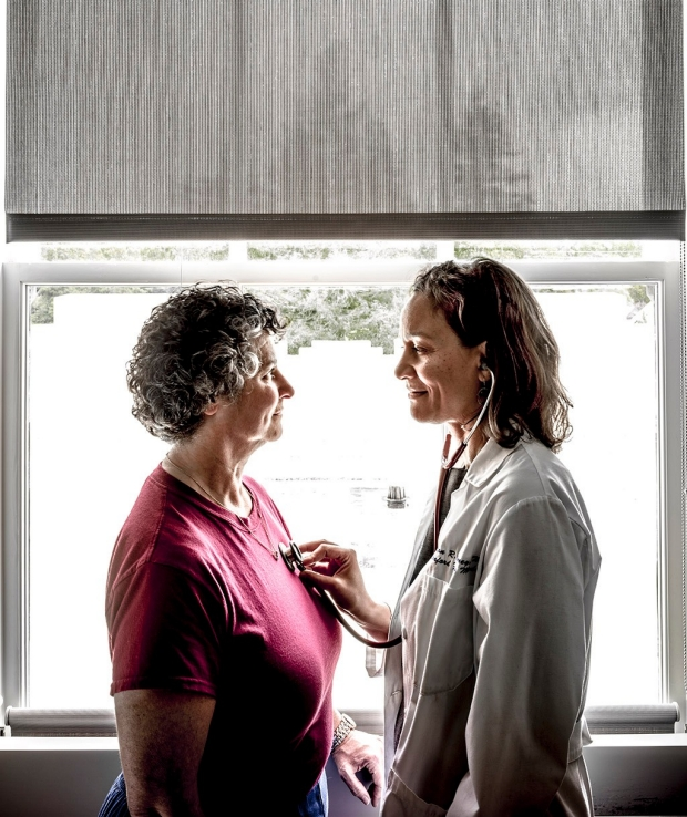 Clinical nurse specialist Stacy Serber, left with her physician, Megan Mahoney. Max Aguilera-Hellweg photography