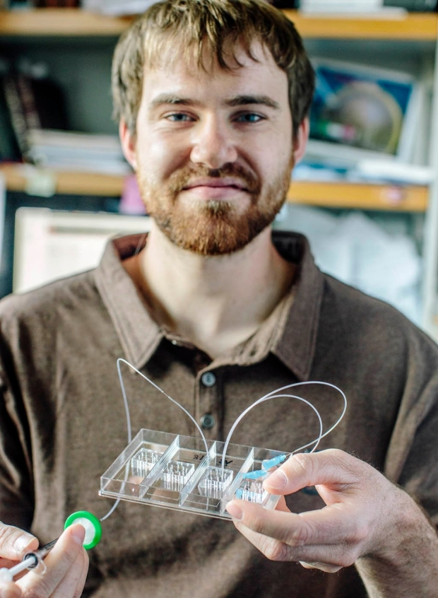 Mechanical engineering graduate student Adam Nekimken